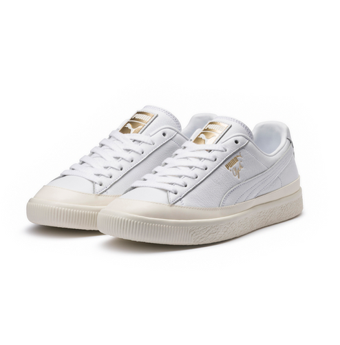Puma Clyde Rubber Toe Leather White-Whisper