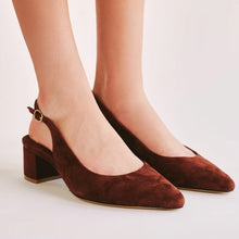Jaggar The Label Solace Slingback Chocolate Suede