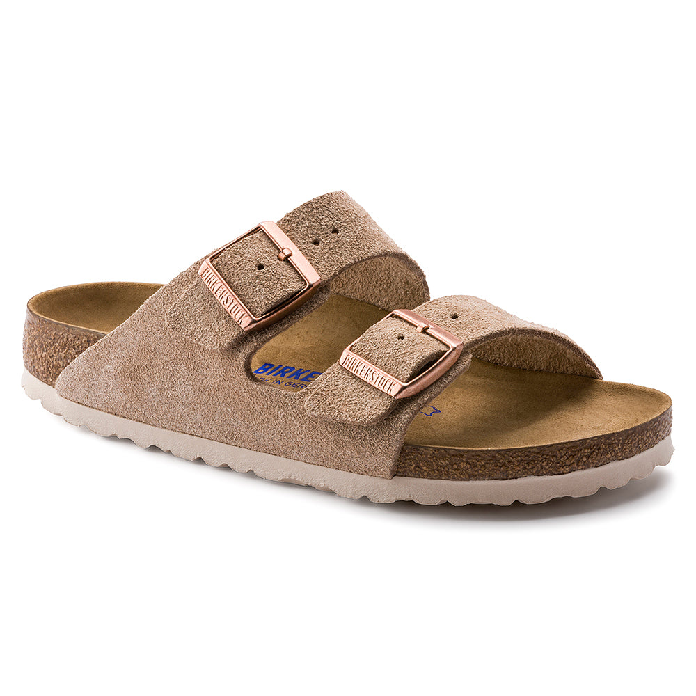 Birkenstock  Arizona Suede Nude Narrow