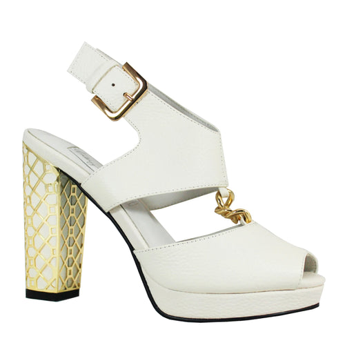 Kathryn Wilson Blushing Bride Heel White Leather