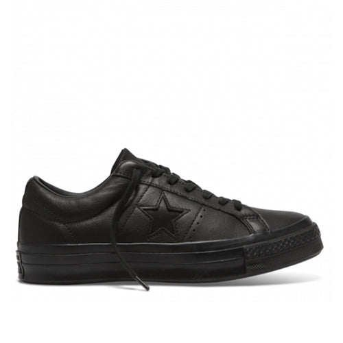 Converse One Star Low Black/Black Leather