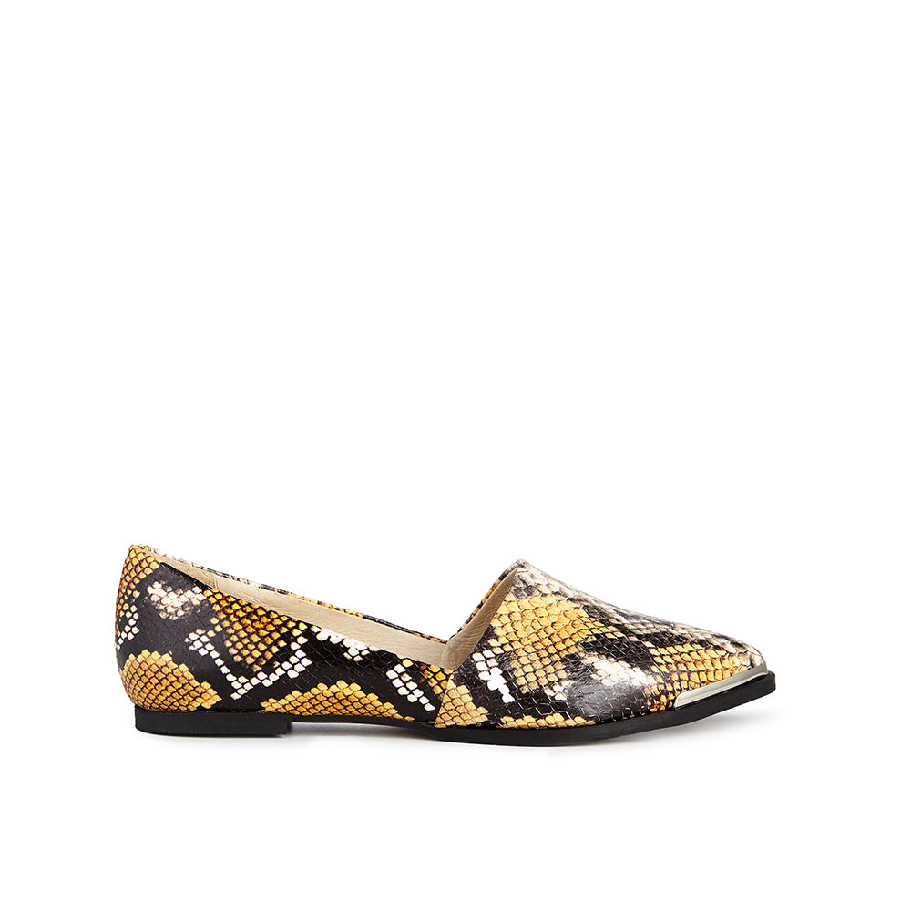 Ivylee Courtney Faux Python Yellow