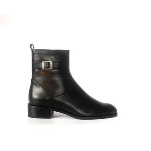 Cervone 394 Black Leather Ankle Boot