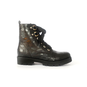 Maripe 27626 Embossed Biker Boot Black