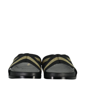 Saben Stella Slides Gold & Black