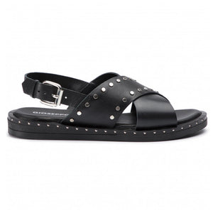 Gioseppo Figueira Black Leather With Studs