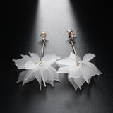 1 Pair of Colored Colored Elegant Women Blossom Crystal