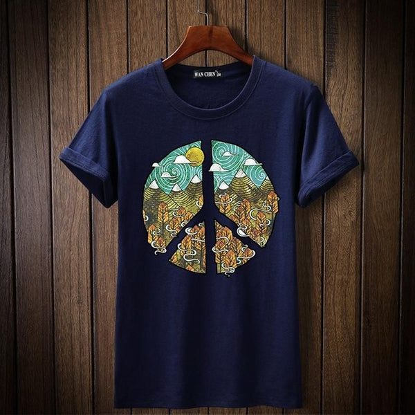 SWEN high quality 2018 short sleeve t shirt men fashion brand design 100% cotton T-shirt male quality print tshirts o-neck s-5xl