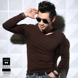 Long-sleeved T-shirt for Men S-5XL Cotton