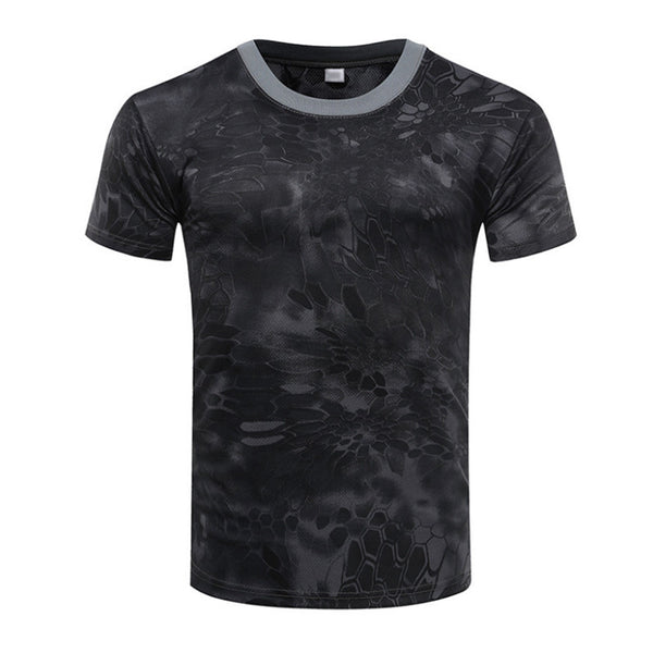T-shirt Camouflage Quick Drying Mens