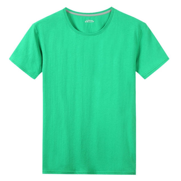 Free Ship T-Shirts Men Women 100% Cotton Summer Short Solid Male Female Basic Tshirts Plain Round Neck Plus Size 5XL Tees shirt