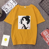 2019 New Fashion T-shirts Woman Spring Summer Girls Print Short Sleeve O-Neck T-Shirt Loose Women Tops Slim Fit Soft Lady Tshirt