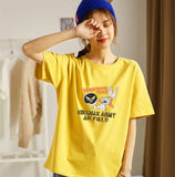 Chuhanting HA0101B 100% cotton short sleeve loose printing women T shirt casual o-neck summer oversized women tshirt