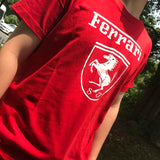 GUYI Red FERRARI Print Letter Male T shirt Men Summer T-shirt O-Neck Solid Color Vetements Casual Car Tshirt Clothes 2019 Boy