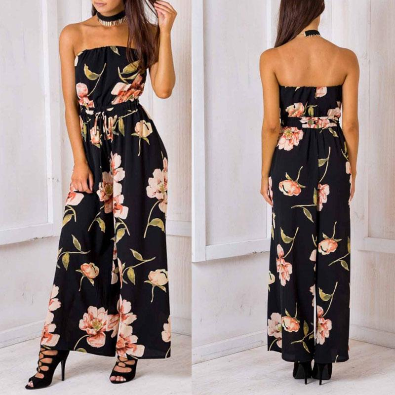 cadaf3e1a52 Fashionah - Aaliyah - Floral Off Shoulder Jumpsuit – FASHIONAH