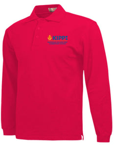 Fourth Grade Long Sleeve Polo - Red