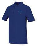 Blue Unisex Short Sleeve Pique Polo