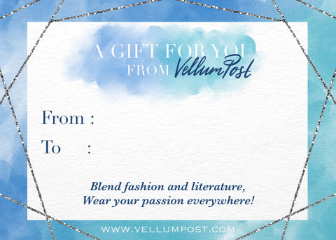 Vellum Post Printable Gift Note