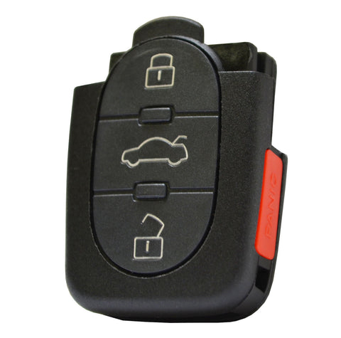 Audi 2002 - 2005 A4 - 4 Btn Flip Key Remote - FCC ID: MYT3X7733 - ZIPPY LOCKS