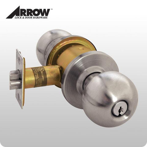 Arrow - Grade 2 - Door Knob Lockset - Entrance - ZIPPY LOCKS