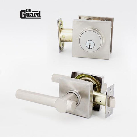 De Guard - Grade 3 - Combo Pack Deadbolt & Lever ( Handle Set ) - ZIPPY LOCKS
