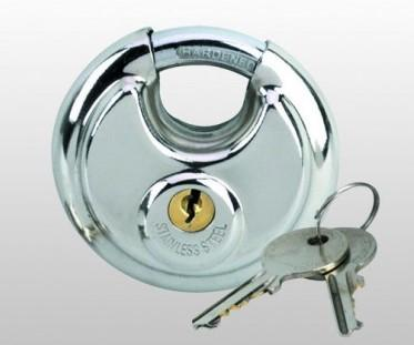 "Pad Lock - 2-3/4"" Round Steel Disc Lock - ZIPPY LOCKS"