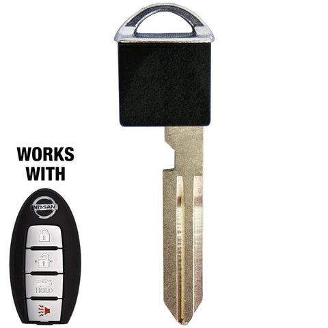 Nissan / Infiniti NI06-PT Emergency Key NO CHIP SILVER (GTL) - ZIPPY LOCKS