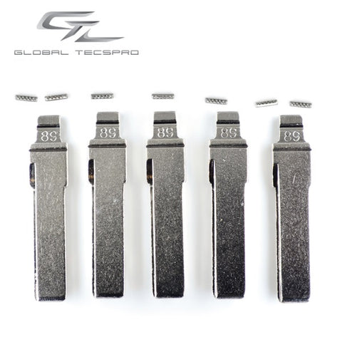 VW/Audi HU66 Flip Blade w/ Roll Pins for OEM Remotes (GTL) - ZIPPY LOCKS