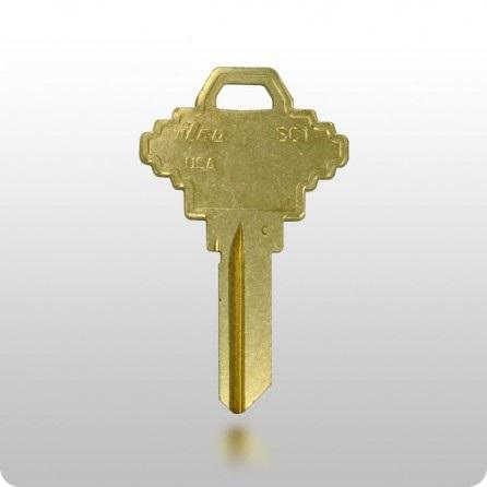 SC1 Key Blank - Large Head - Brass - ZIPPY LOCKS
