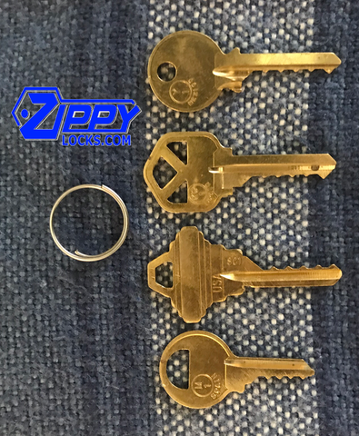 Set of 4 bump Keys