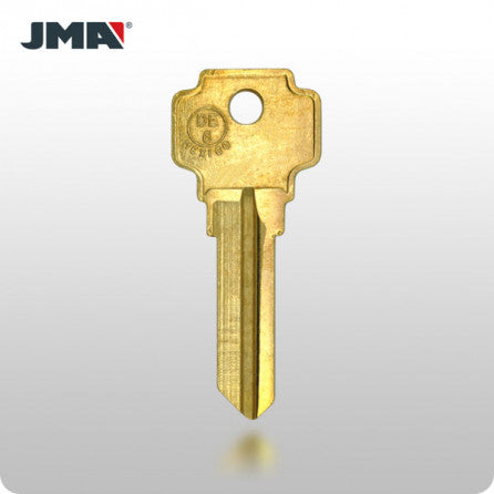 DE6 / MD17 5-Pin Dexter Key - Brass (JMA DX-5DE) - ZIPPY LOCKS