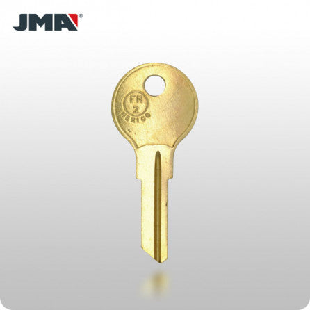 FR2 / L54G 6-Wafer Fort/CompX Key - Brass (JMA FR-11DE) - ZIPPY LOCKS