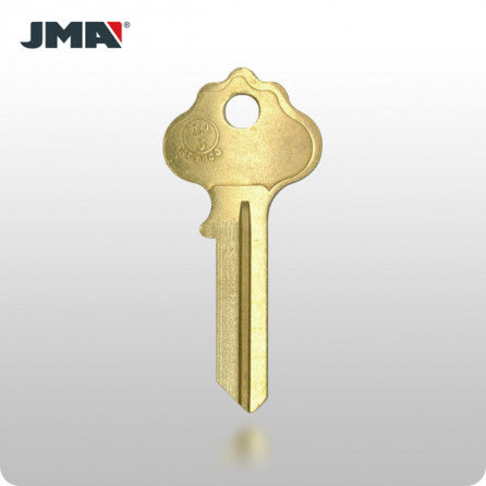 IN3 / IN36 Ilco 5-Wafer Cabinet Key - Brass (JMA ILC-4DE) - ZIPPY LOCKS