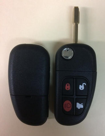 2001-2008 Jaguar / 4-Button Flip-Key / NHVWB1U241 - ZIPPY LOCKS