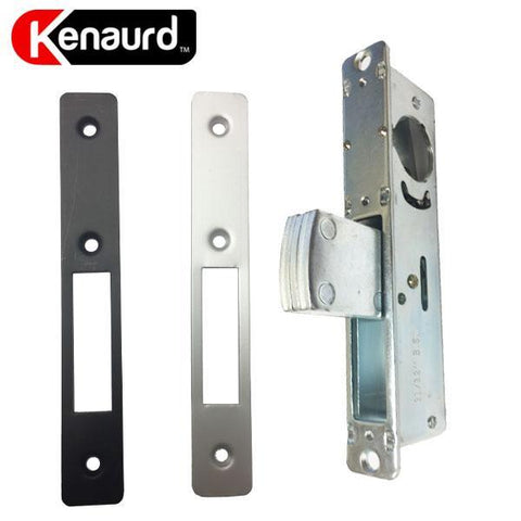 "Narrow-Stile 1-1/8"" DeadBolt Lock Body - w/ 2 Faceplates"