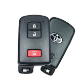 Toyota 2012-2017 3 Btn Proximity Remote w/ Emergency Key (Original) - FCC ID: HYQ14FBA - ZIPPY LOCKS