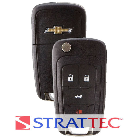 2010-2017 Chevrolet / 4-Button PEPS Flip Key / PN: 5912543 / OHT01060512 (Strattec) - ZIPPY LOCKS