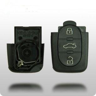 1997-2006 Audi 4 Btn Flip Key Remote (SHELL) - ZIPPY LOCKS