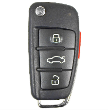 Audi 2005-2010 4 Btn Flip Remote - FCC ID: MYT4073A - ZIPPY LOCKS