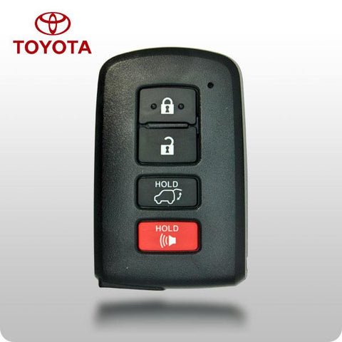 Toyota 2014-2017 Highlander 4-Btn Smart Key w/ Insert Blade - FCC ID: - ZIPPY LOCKS