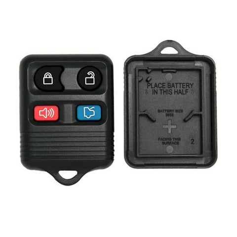 Ford 4 Button Remote (Shell) with Pad - ZIPPY LOCKS