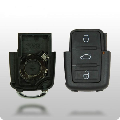 VW 1998-2010 4-Button Remote Shell (SQUARE BUTTONS) - ZIPPY LOCKS