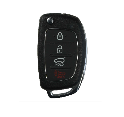 2013-2016 Hyundai Santa Fe 4 Btn Remote Flip Key FCC: TQ8-RKE-3F04 - ZIPPY LOCKS