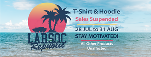 All T-Shirt & Hoodie Sales Suspended