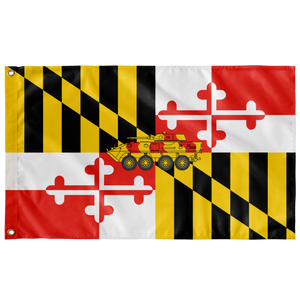 STATE of MARYLAND LARSOC 3' X 5' SINGLE SIDED INDOOR FLAG