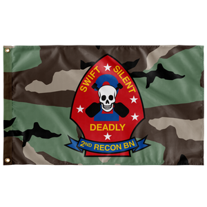 2ND RECON BN 3 COLOR WOODLAND 3' X 5' INDOOR FLAG