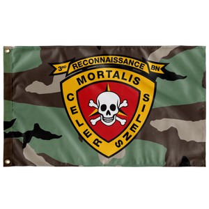 3RD RECON BN 3 COLOR WOODLAND 3' X 5' INDOOR FLAG