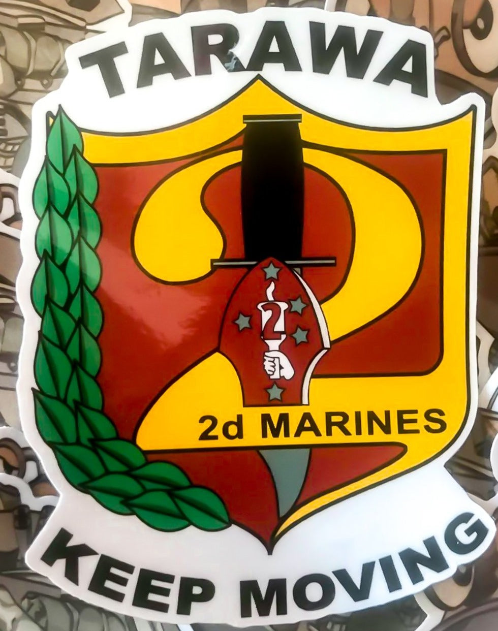 "2ND MARINE REGIMENT 4"" STICKER"