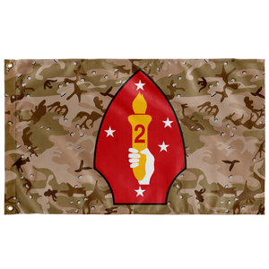 2ND MARINE DIVISION DESERT STORM 3' X 5' INDOOR FLAG