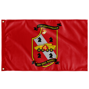 4TH LAR BN RED 3' X 5' INDOOR FLAG